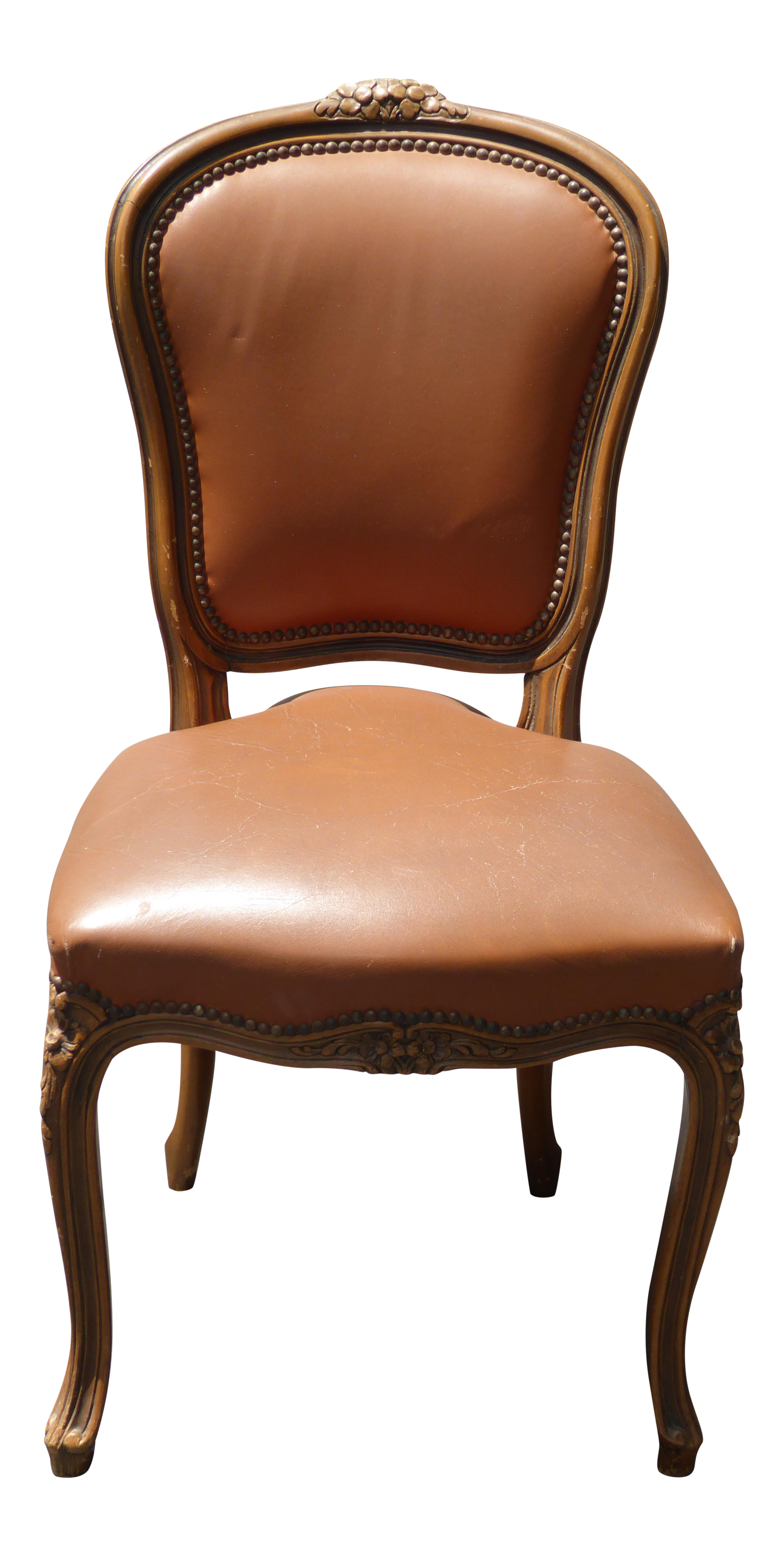 Furniture clipart comfortable chair. French provincial style brown