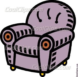 Vector clip art . Furniture clipart comfortable chair