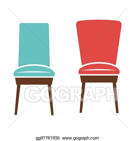 Vector art soft chairs. Furniture clipart comfortable chair
