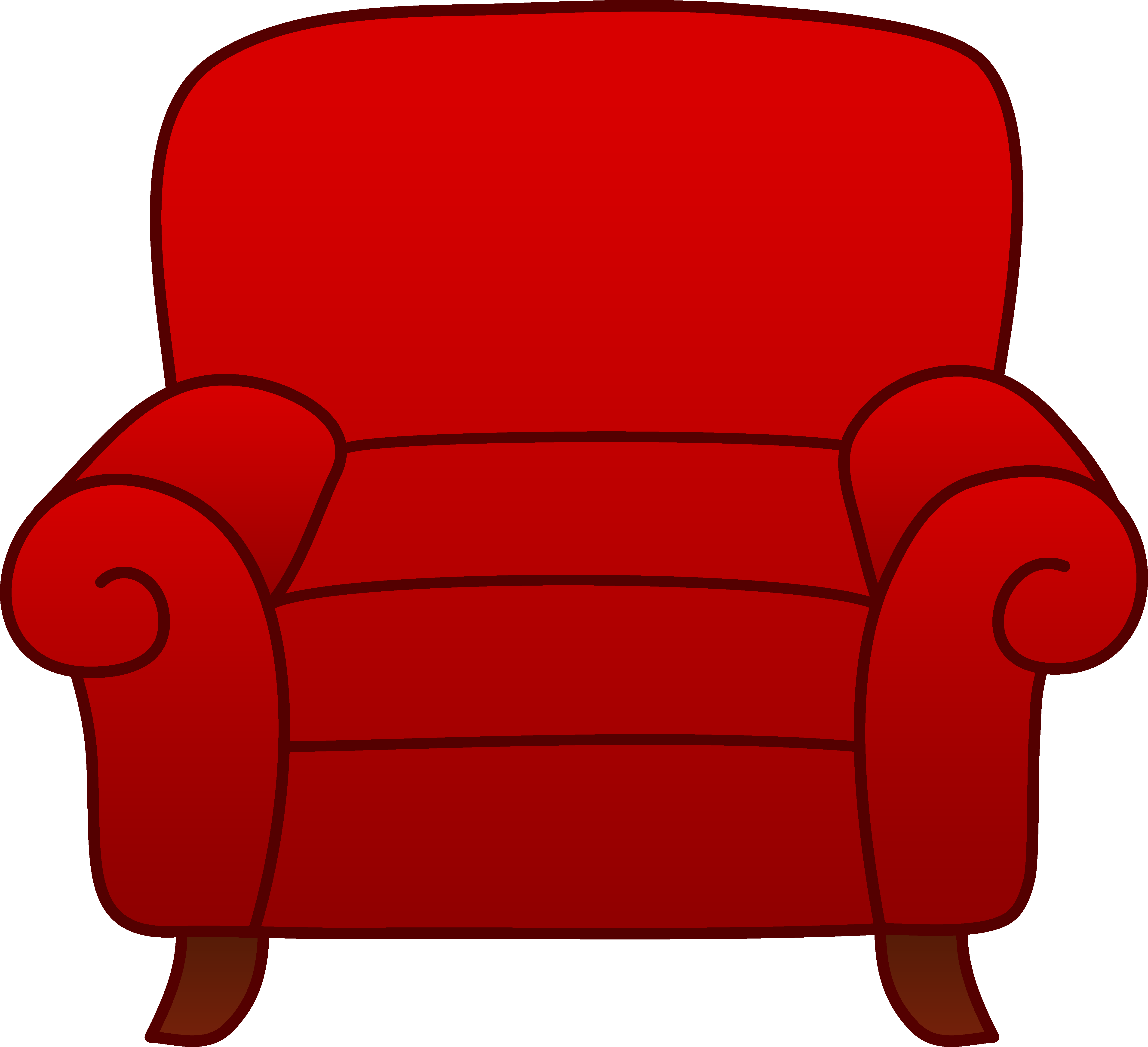 Furniture clipart couch. Roter sessel berpr fen