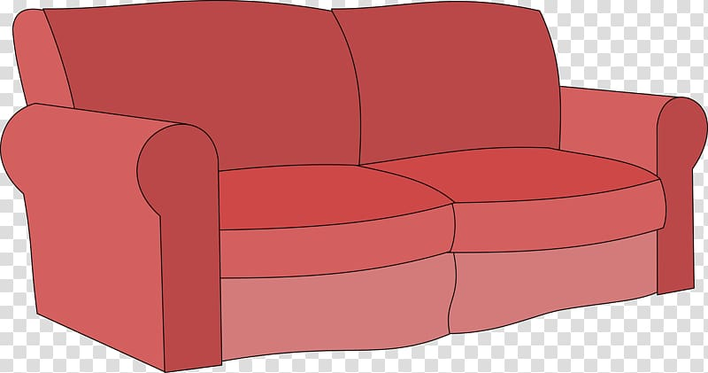 Sofa bed transparent background. Furniture clipart couch