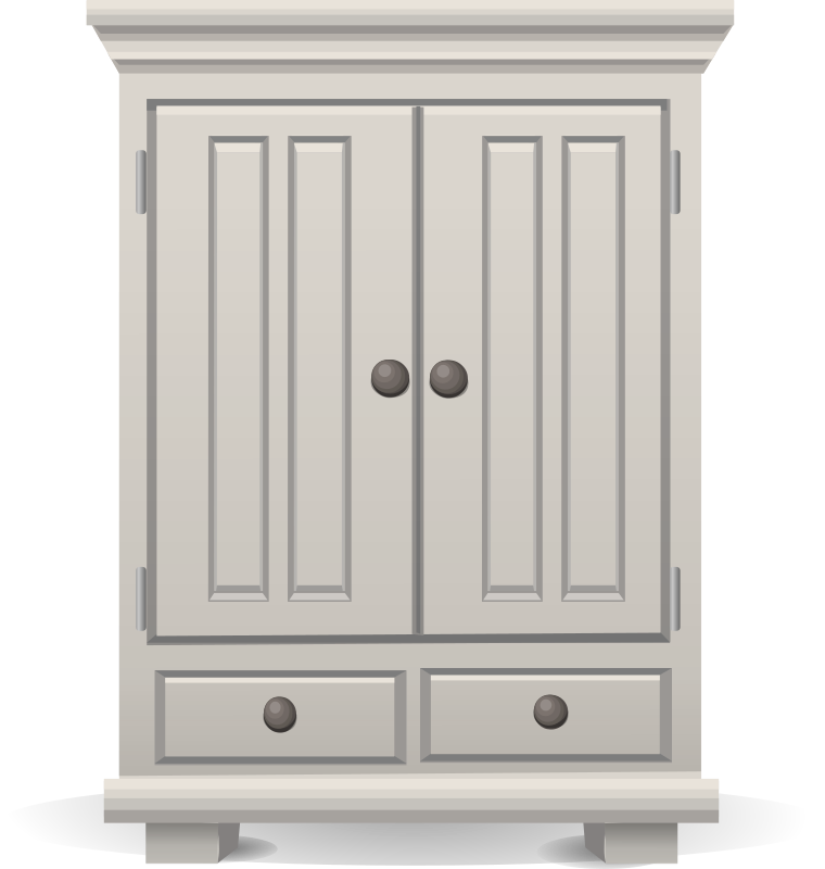 Furniture clipart cupboard. Exceptional tall white cabinet