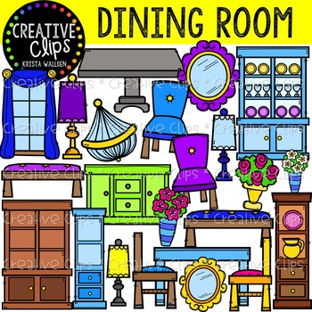 Furniture clipart dining area. Room creative clips