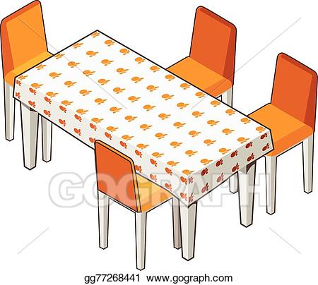 Eps vector dining with. Furniture clipart dinner table