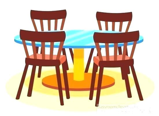 Kitchen clip art youngchoreographersproject. Furniture clipart dinner table