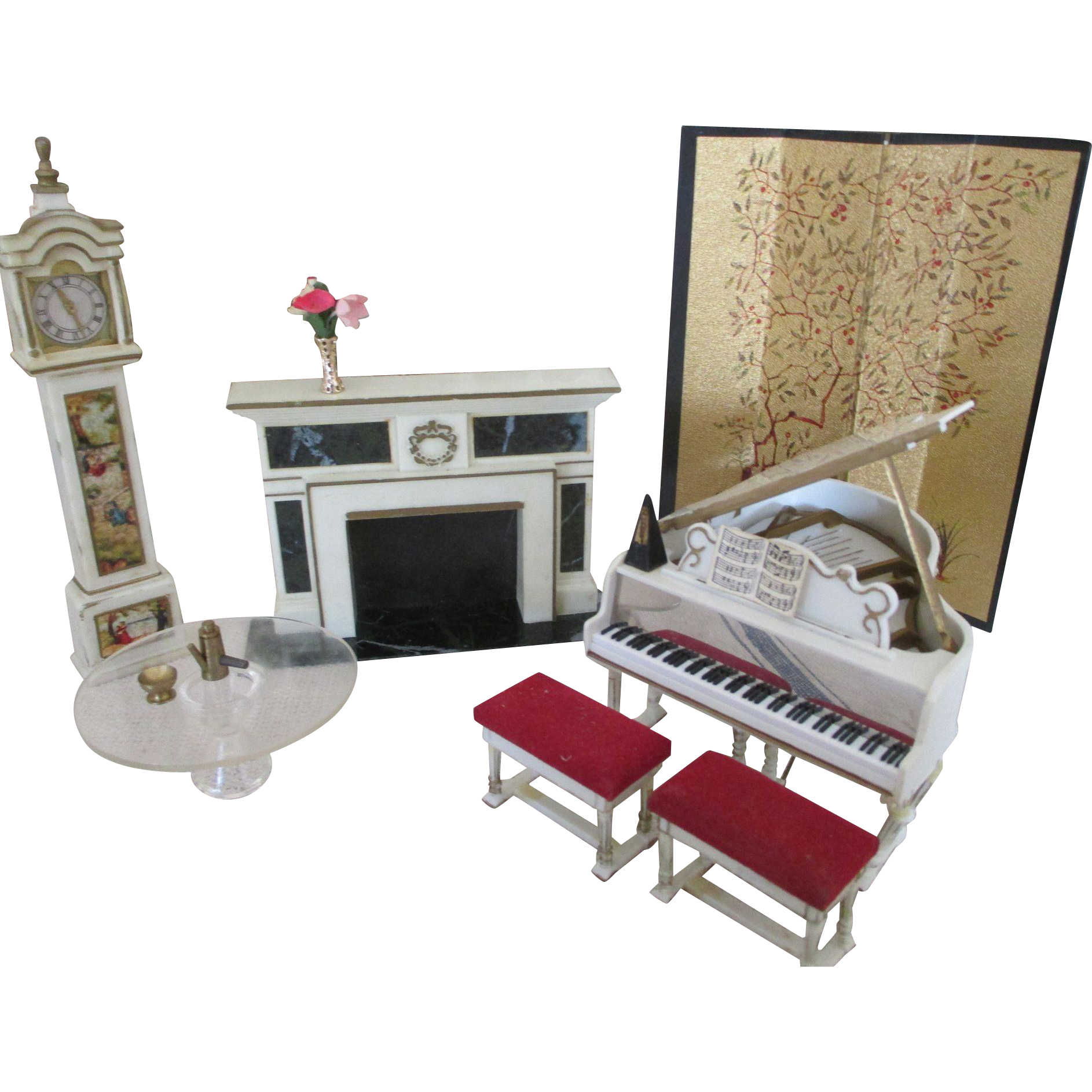 Furniture clipart dollhouse furniture. Vintage doll house images
