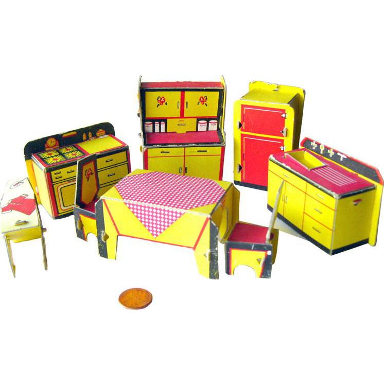 Built rite miniature kitchen. Furniture clipart dollhouse furniture