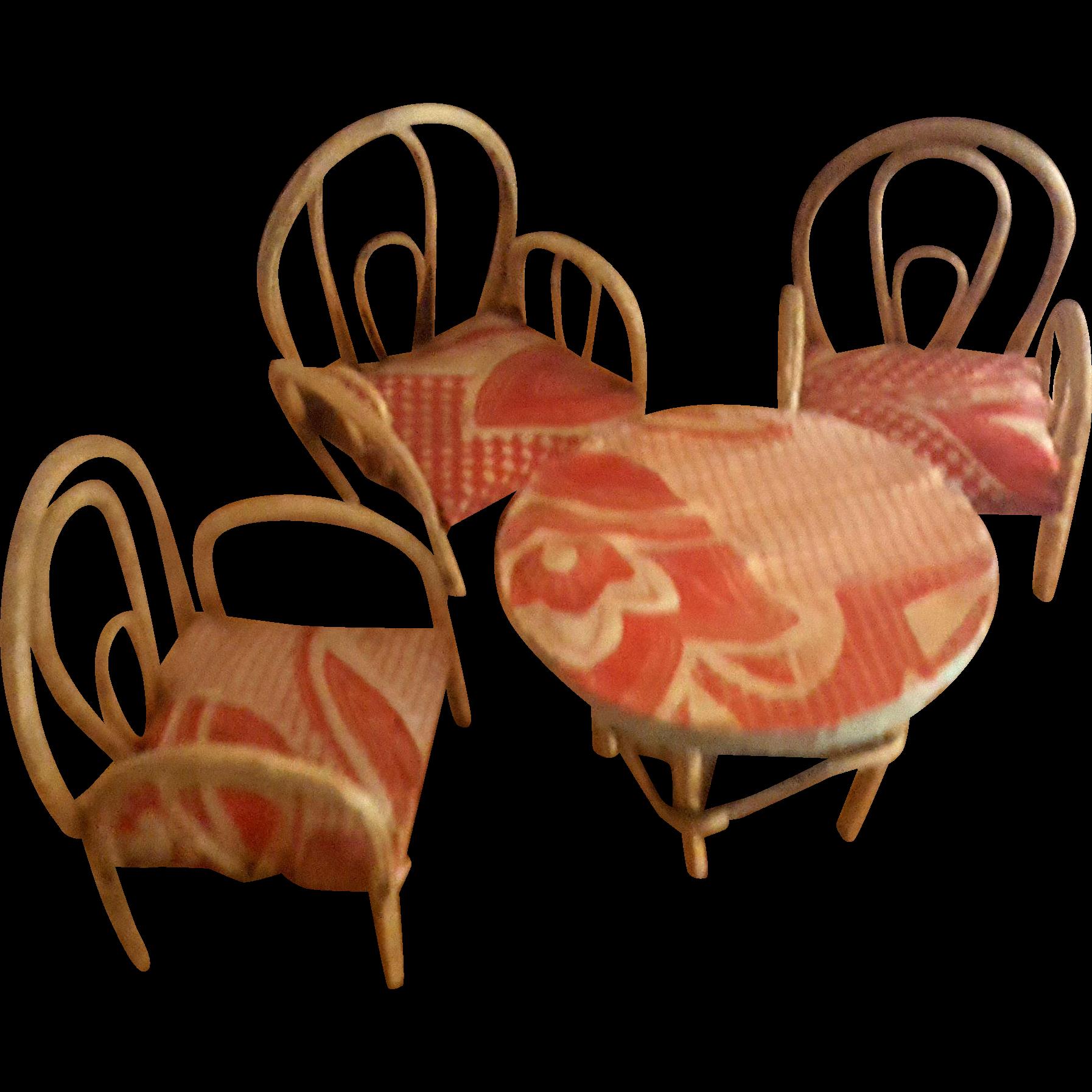 Furniture clipart dollhouse furniture. Vintage bentwood