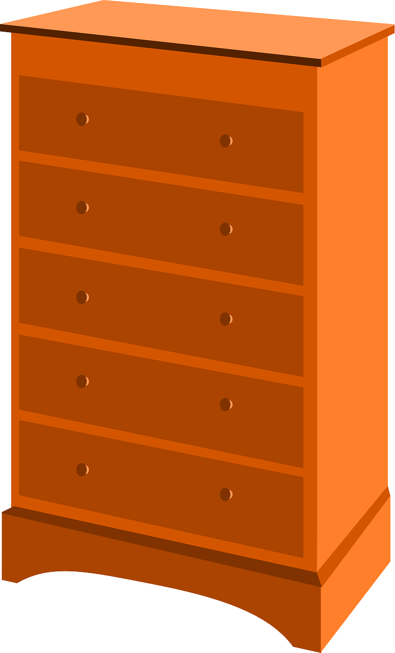 Drawers wardrobe transparent image. Furniture clipart dresser