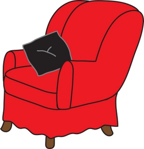 Furniture clipart easy chair. Free arm image