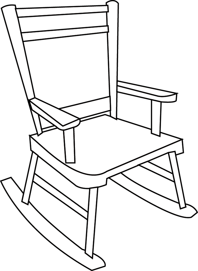 Book black and white. Furniture clipart easy chair