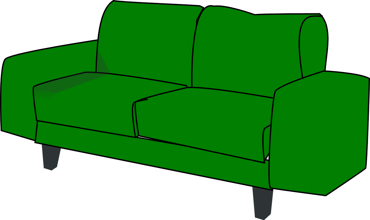 Furniture clipart fancy sofa. Home decor couch livingroom