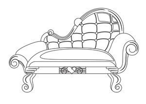 Furniture clipart fancy sofa. Modern shape royalty free