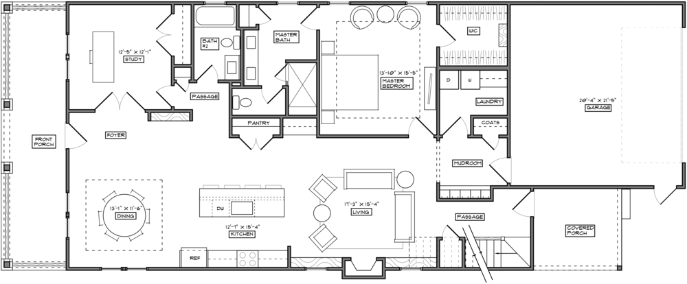 Furniture clipart floor plan. The walk at east