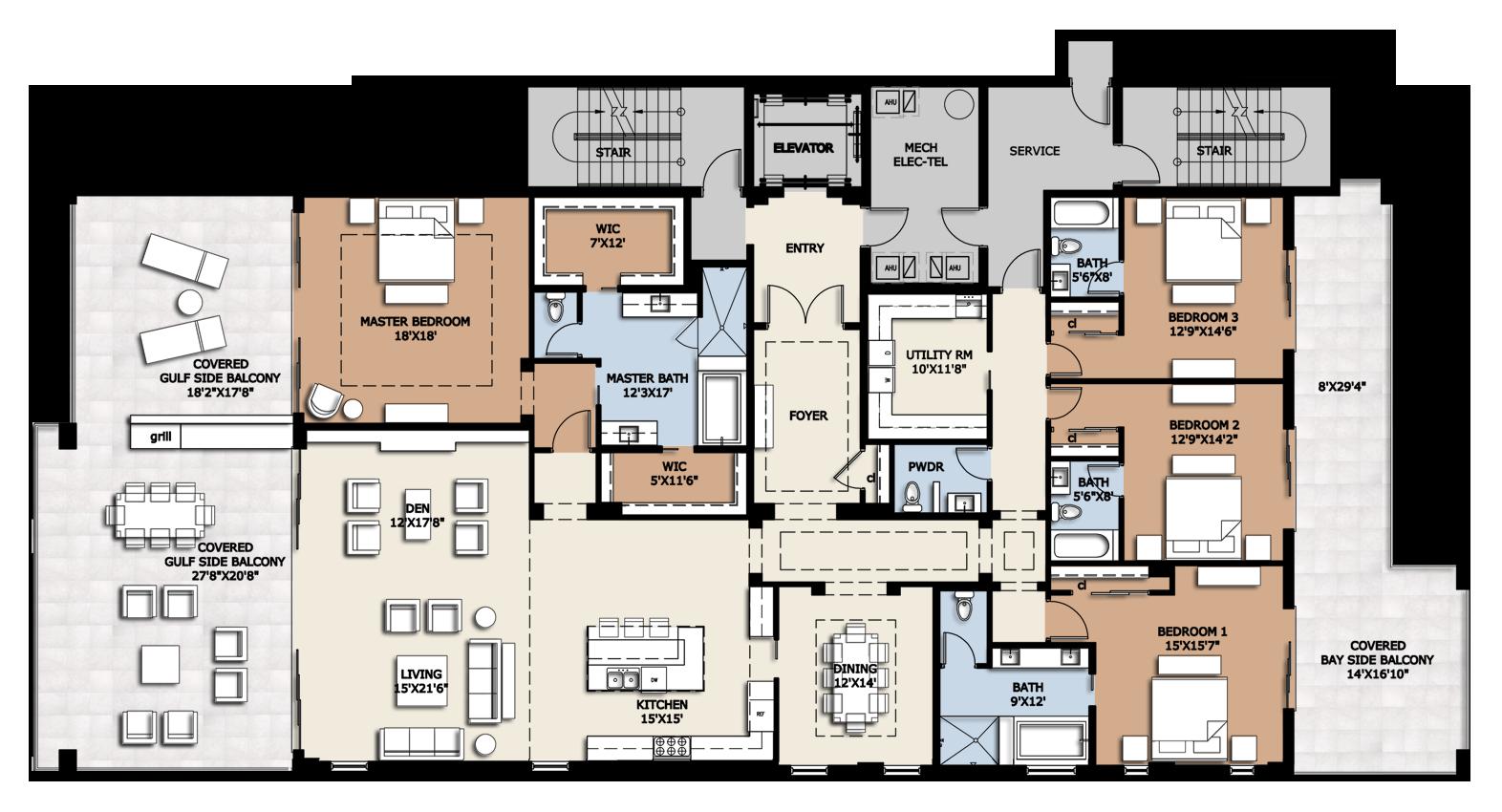 Luxury bedroom apartment plans. Furniture clipart floor plan