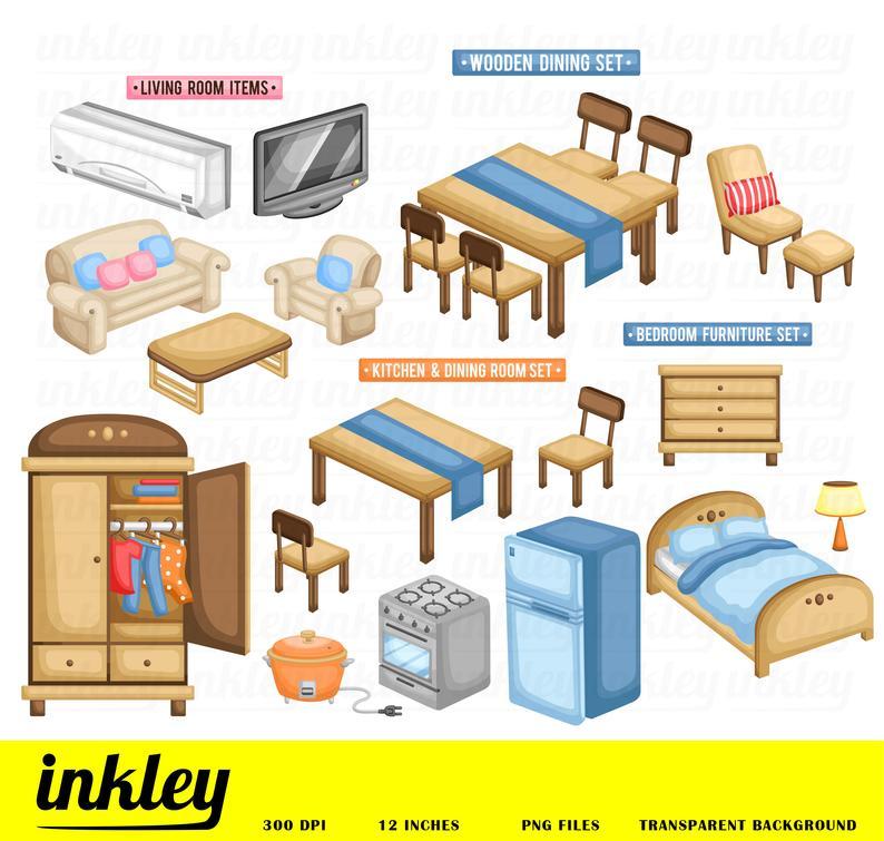 Furniture clipart furnature. Clip art png television