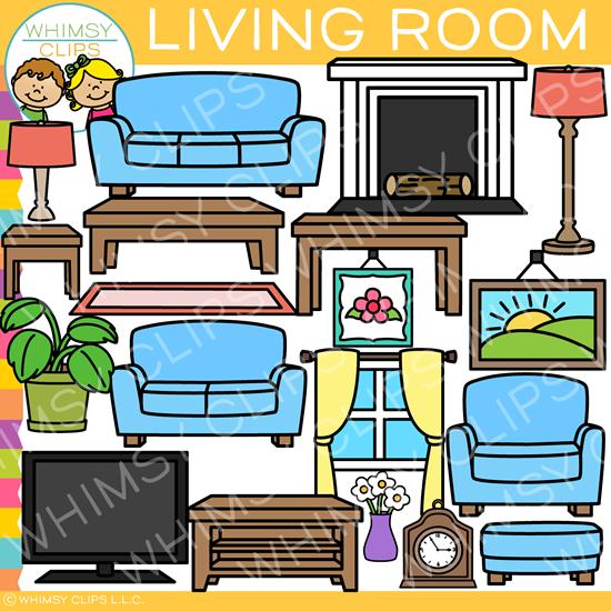 Furniture clipart furnature. Living room clip art