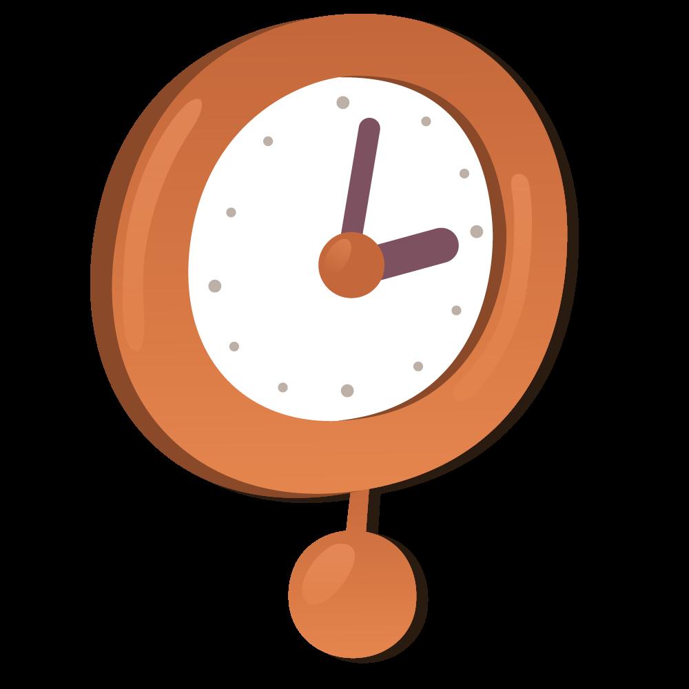 Alarm clock cartoon watch. Furniture clipart home accessory
