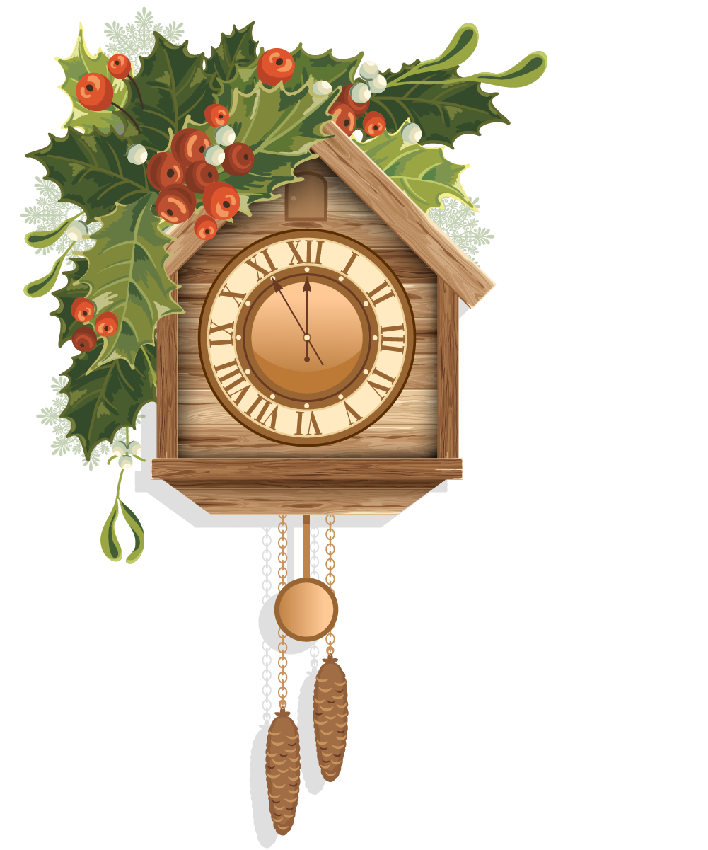Cuckoo clock christmas clip. Furniture clipart home accessory