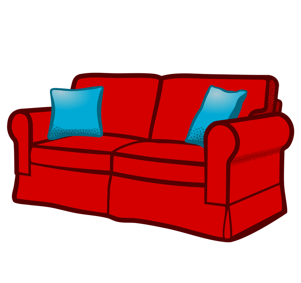 Big sofas couches m. Furniture clipart home decor