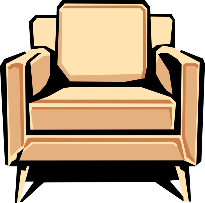 Furniture clipart home furnishings. Chair vector image illustration