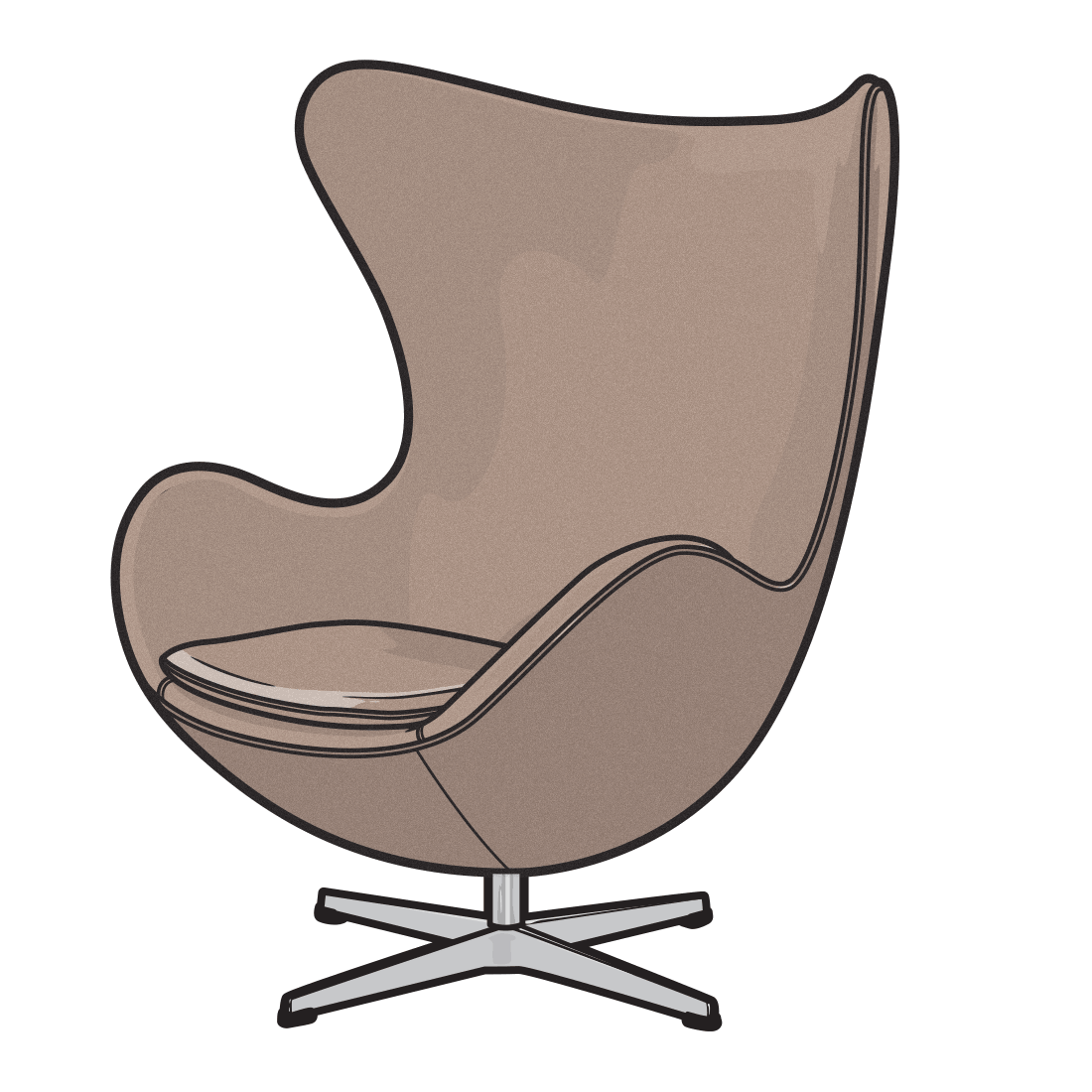 Illustration drawings of classic. Furniture clipart home furnishings