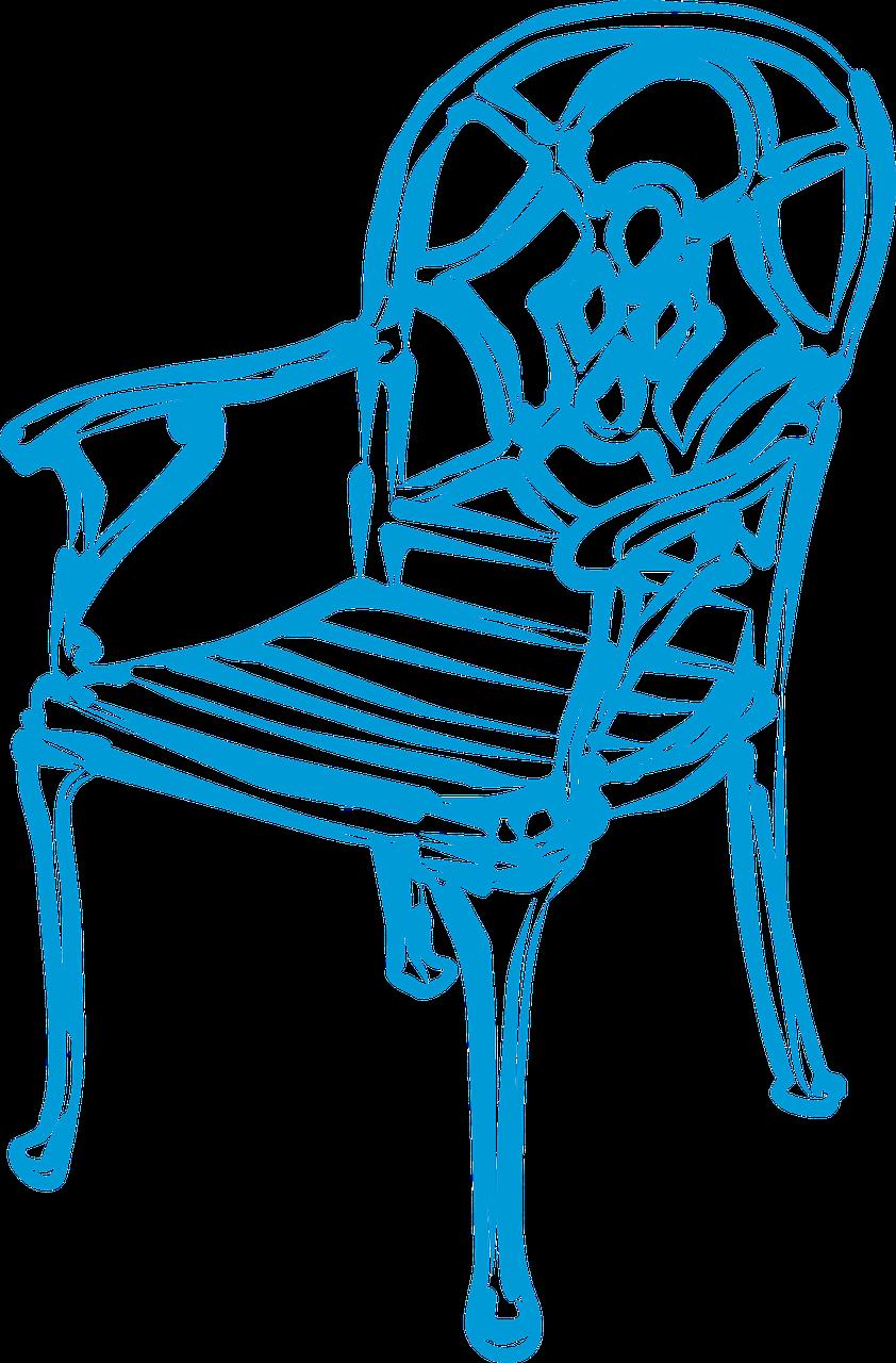 Furniture clipart house decoration. Home decor chair elegant