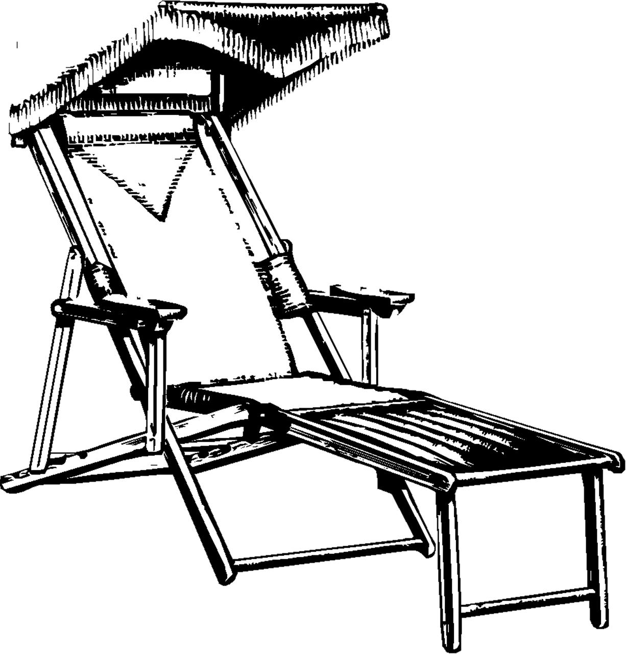 Home decor deck chair. Furniture clipart house decoration
