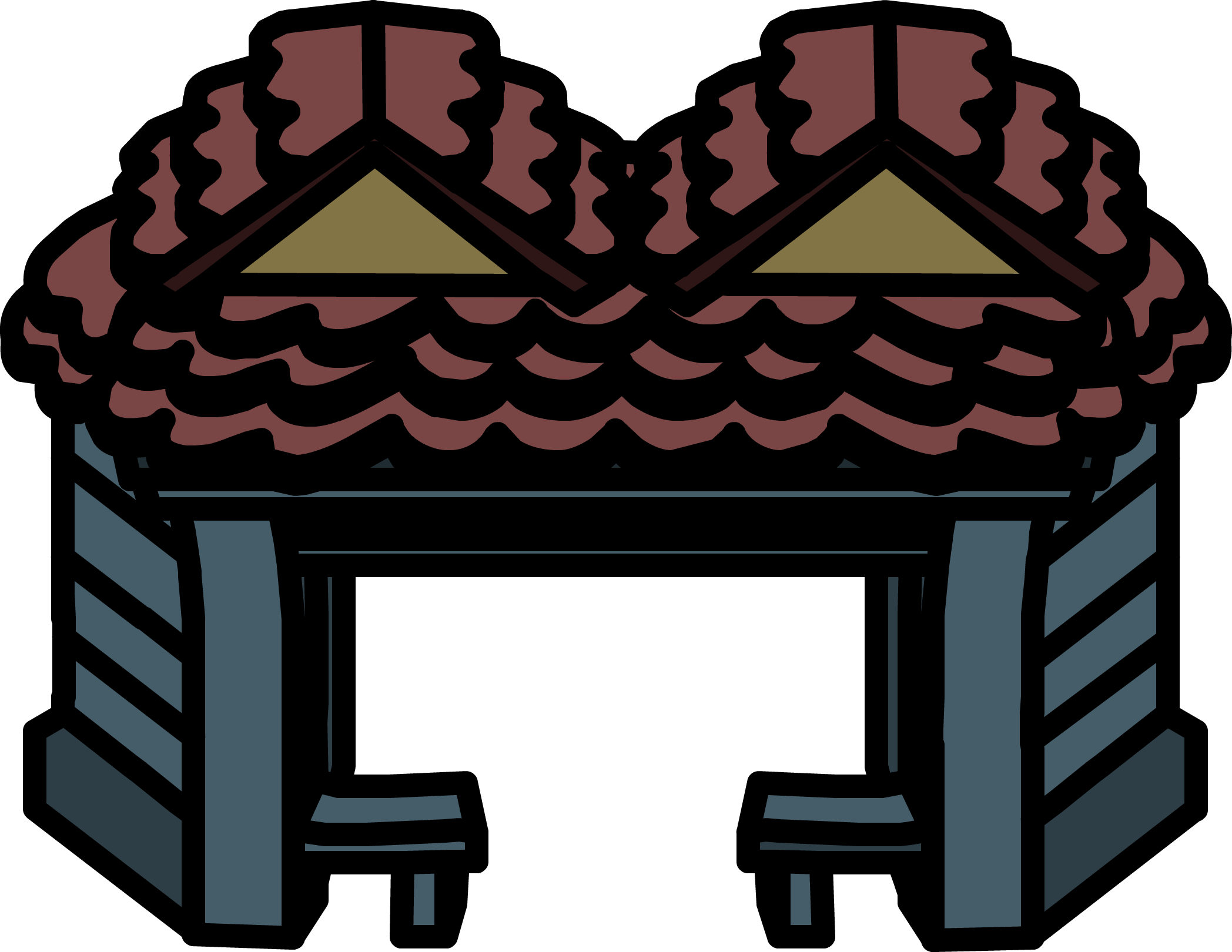 Furniture clipart house furniture. Haunted entrance club penguin