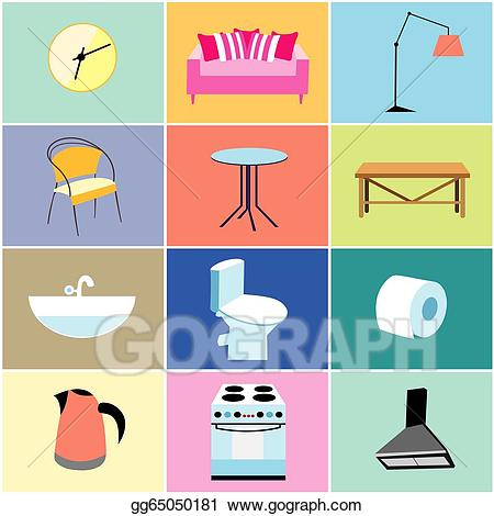 Furniture clipart household furniture. Misc and items stock