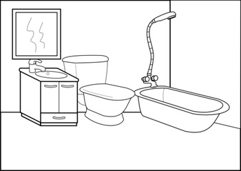 Furniture clipart household supply. House rooms and appliances