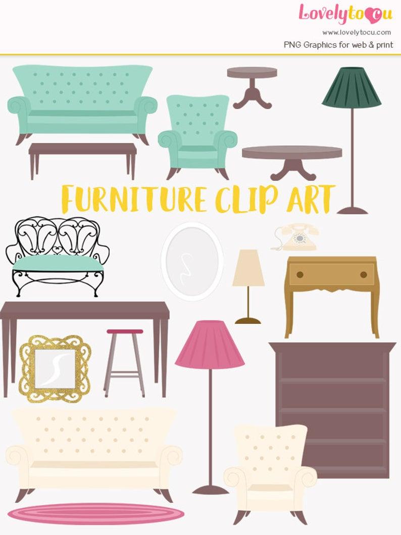 House furnishings decorating decor. Furniture clipart interior design