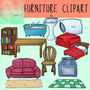 Color line art piece. Furniture clipart living room
