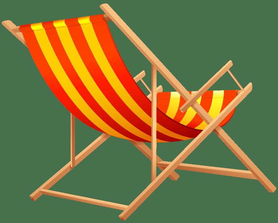 Orange beach transparent png. Furniture clipart lounge chair