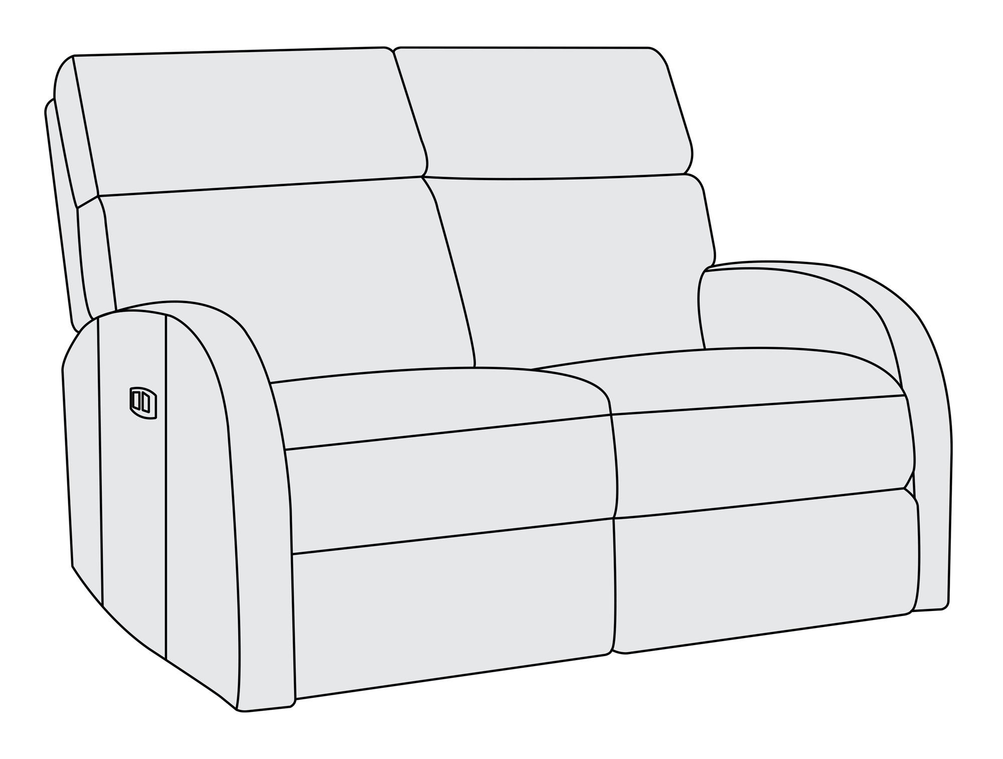 Furniture clipart love seat. Clemens power motion loveseat
