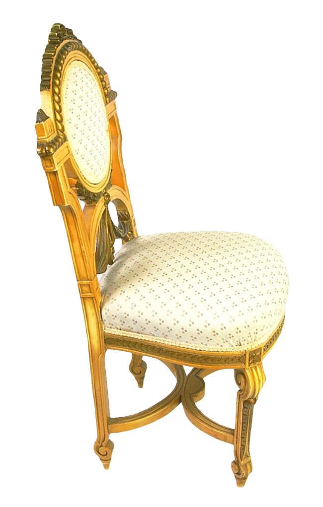 Wooden chair golden png. Furniture clipart object