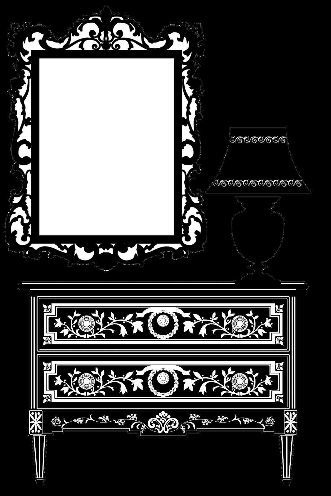 Furniture clipart object. Free vintage digital stamp