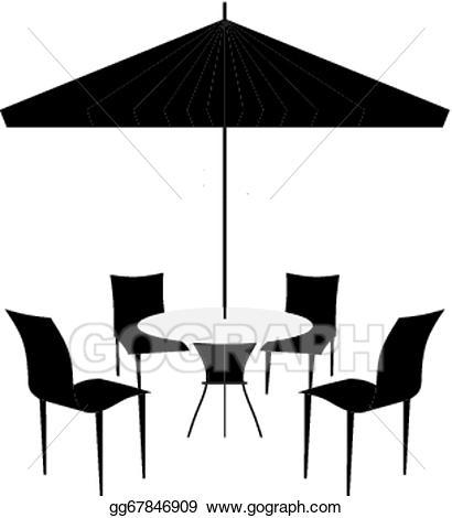 Furniture clipart patio. Clip art vector chairs