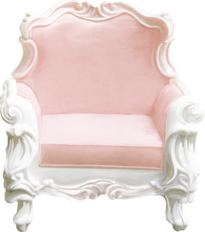 Clip art continental girly. Furniture clipart pink chair