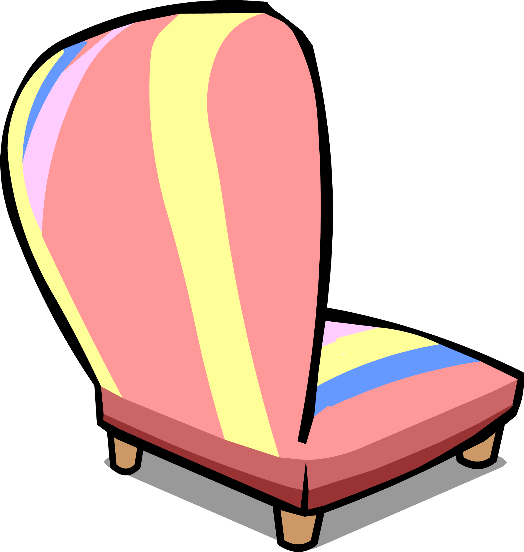 Furniture clipart pink chair. Image sprite png club