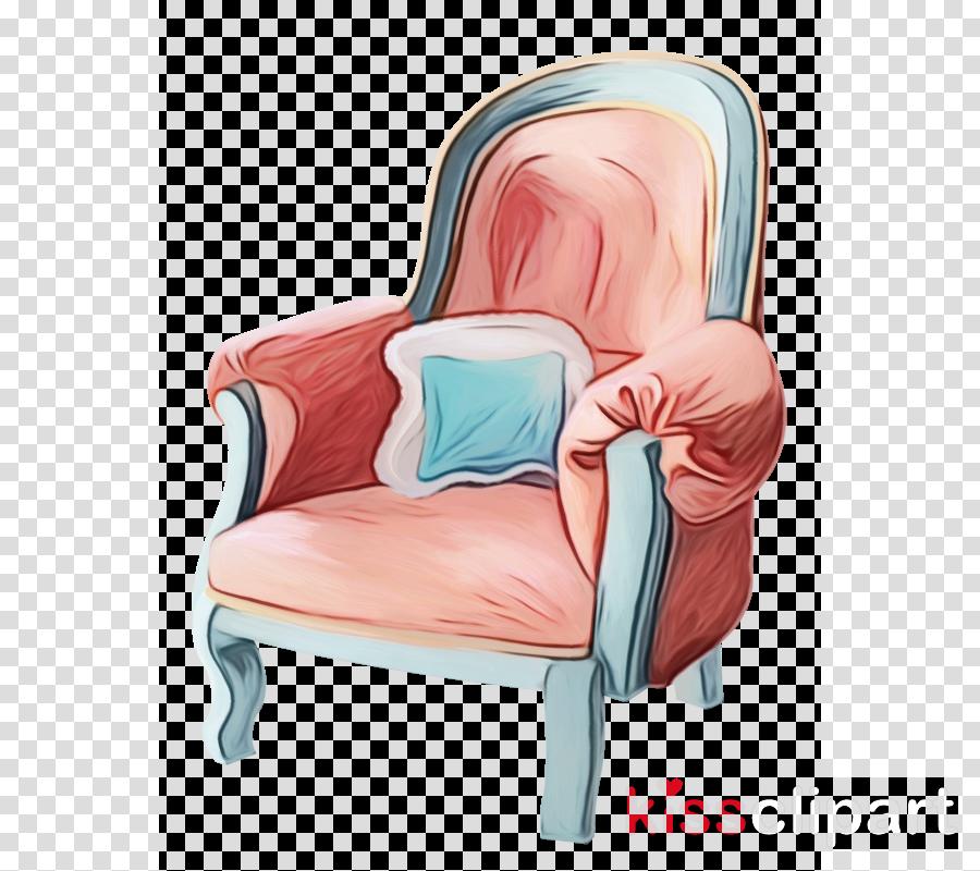 Cartoon sitting . Furniture clipart pink chair