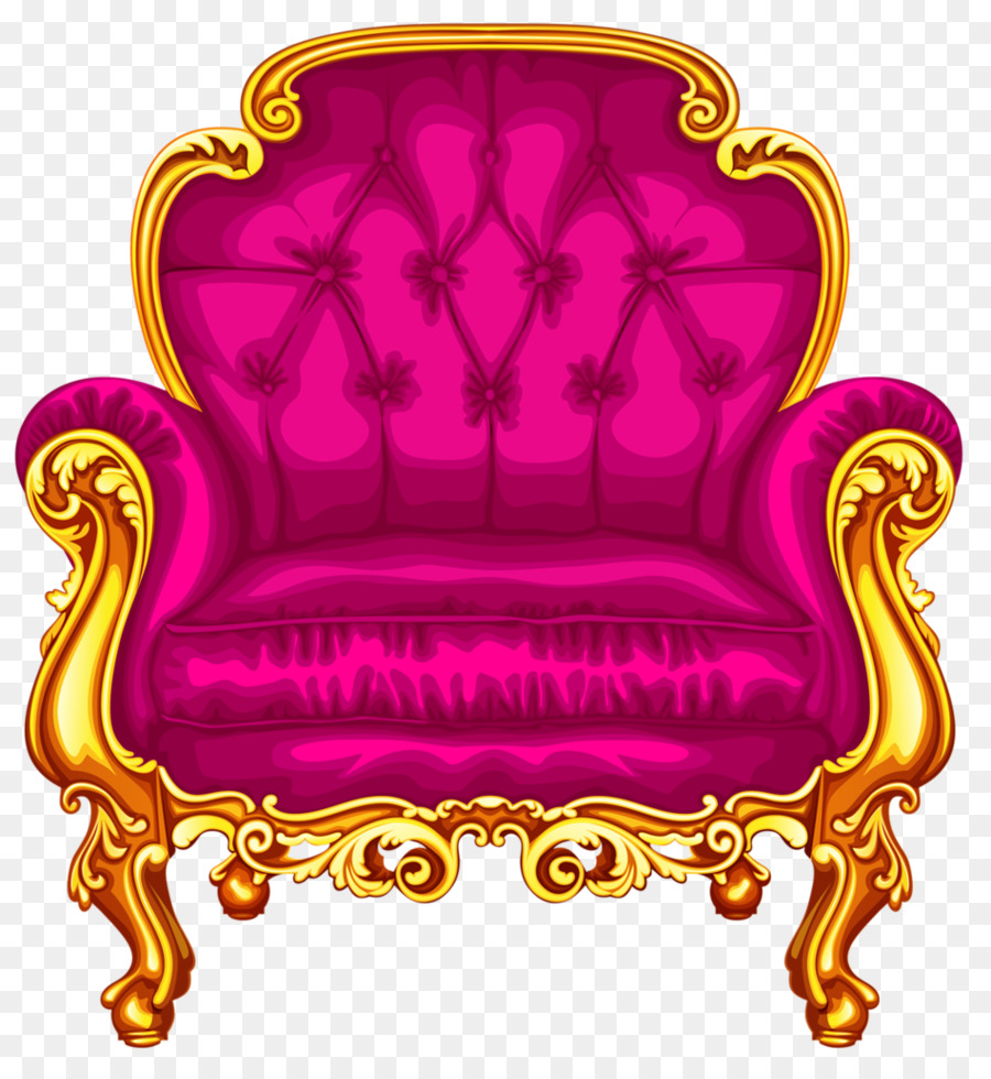 Furniture clipart pink chair. Background couch