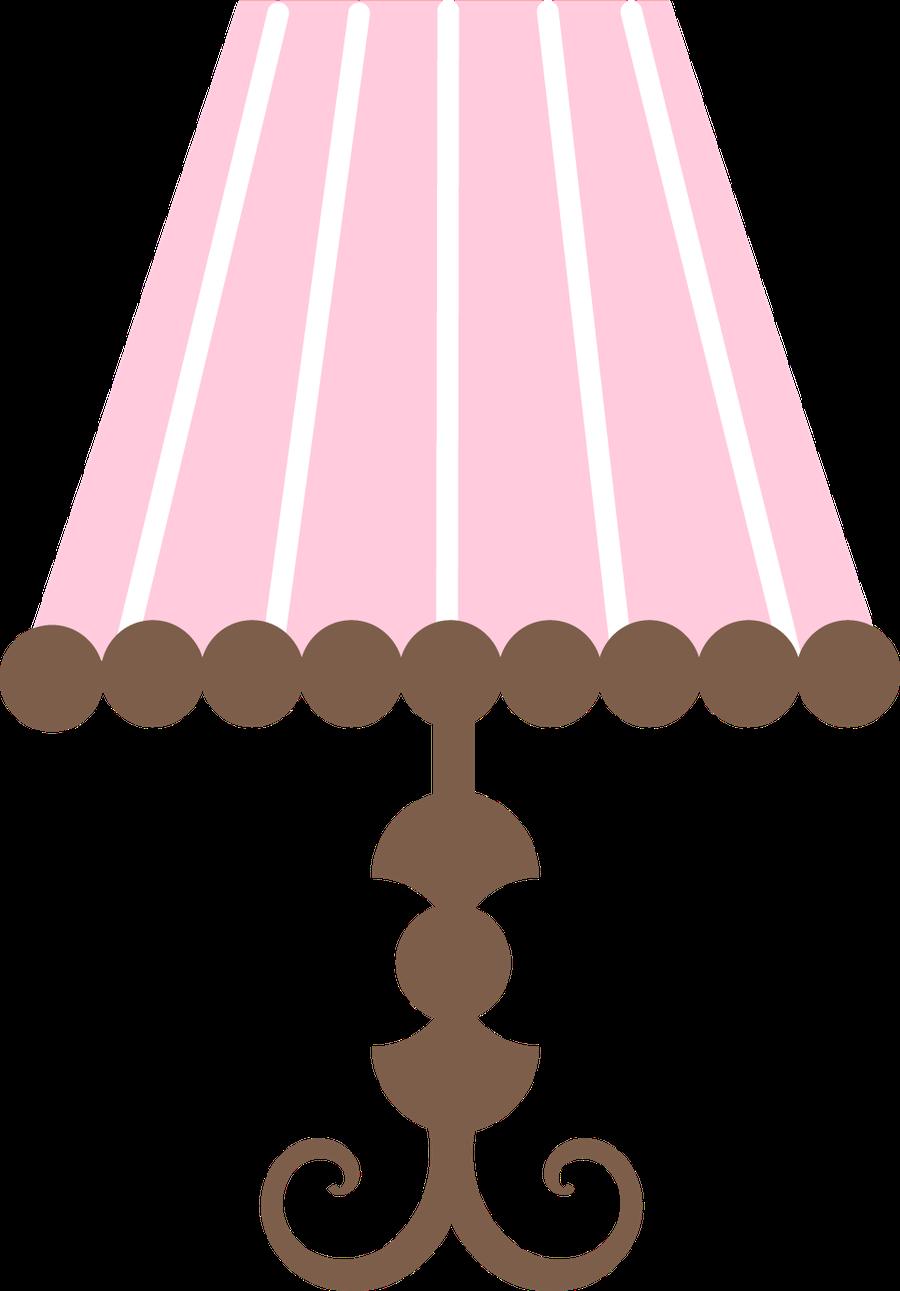 Beb menino e menina. Furniture clipart pink lamp