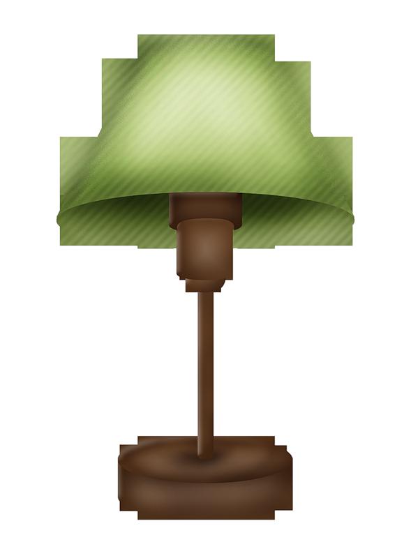 M veis e objetos. Furniture clipart pink lamp