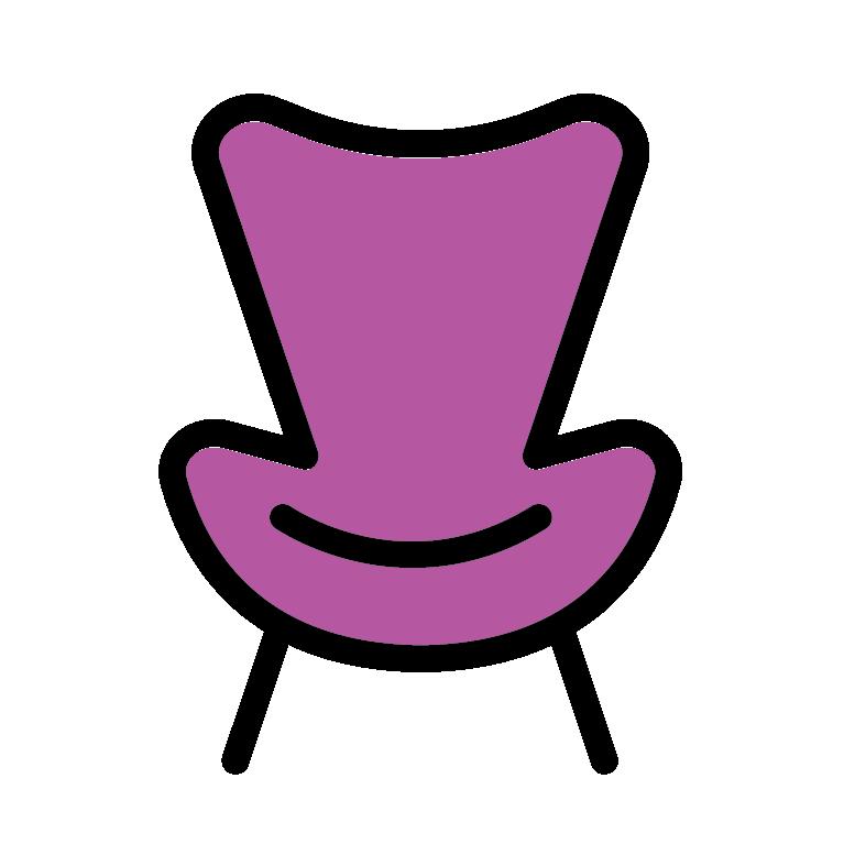 Resale shops aco the. Furniture clipart purple chair