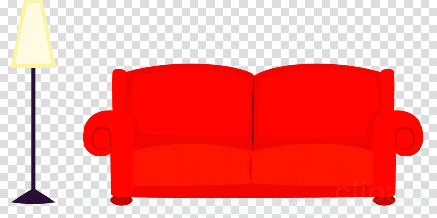 Loveseat chair . Furniture clipart red couch