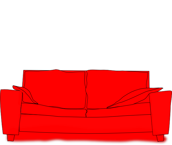 Furniture clipart red couch. Svg clip arts download