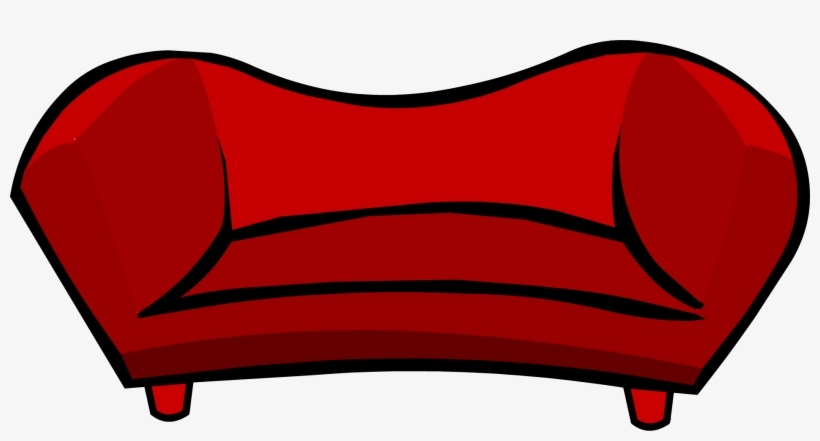 Sofa club penguin free. Furniture clipart red couch