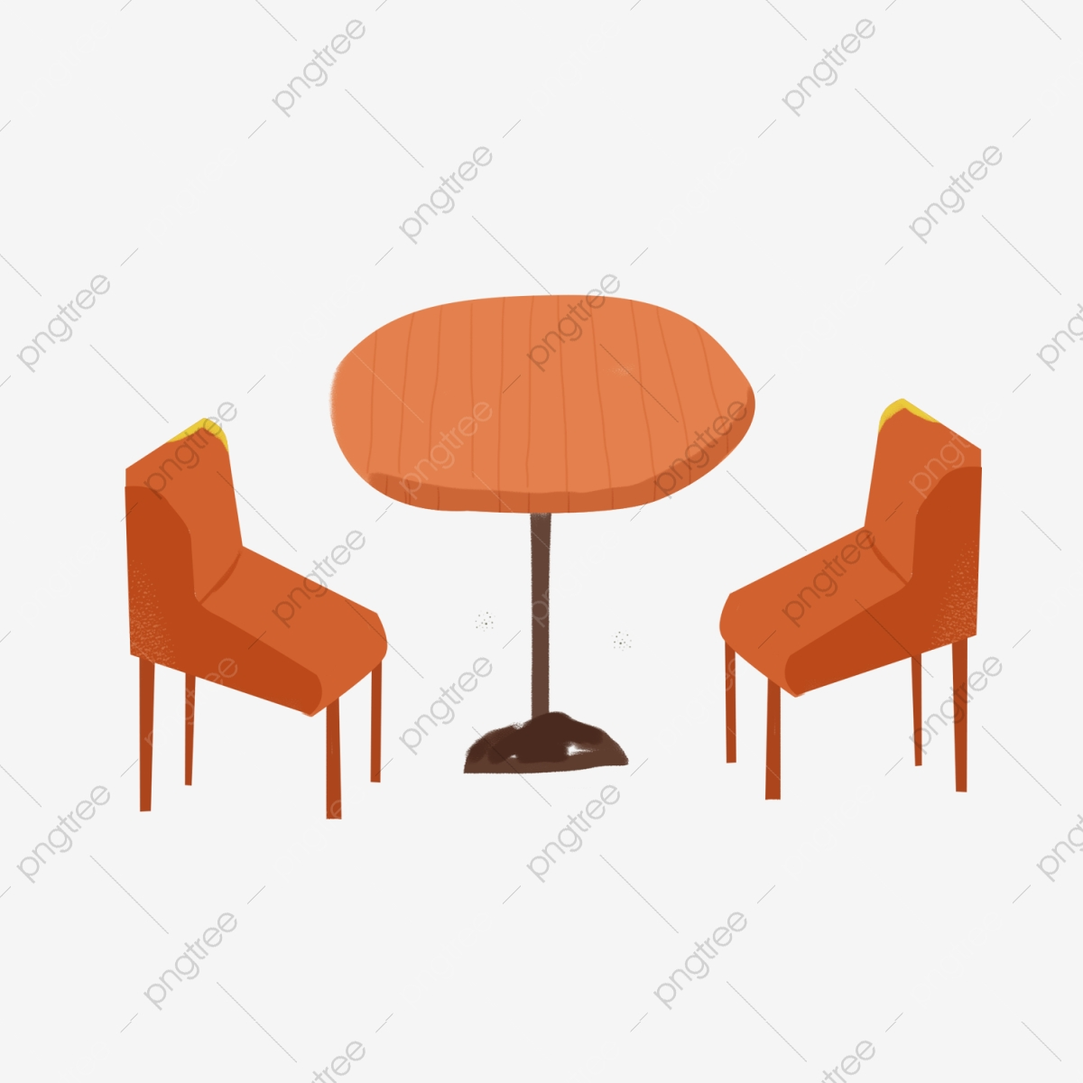Yellow chair . Furniture clipart restaurant table