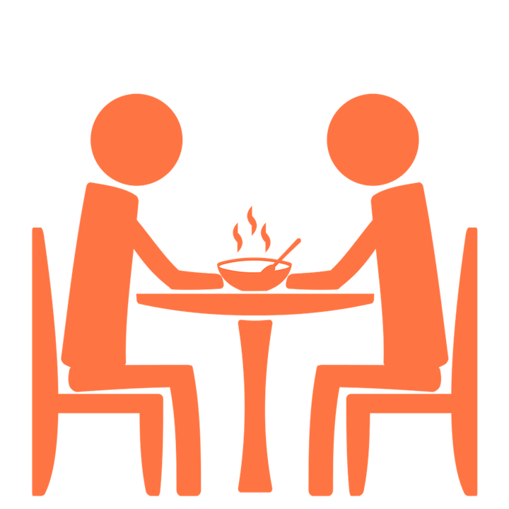Free photo eating food. Furniture clipart restaurant table